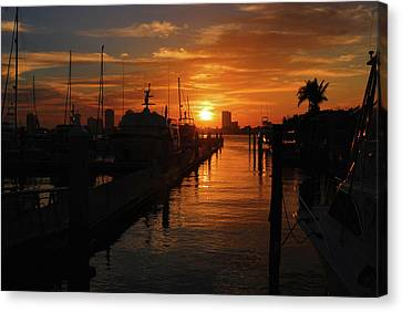 Canvas Print featuring the photograph 1- Lake Park Marina by Joseph Keane