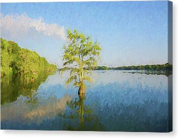 Civil War Site Canvas Print - Lake Providence Louisiana - Digital Painting by Scott Pellegrin
