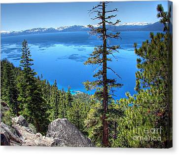 Lake Tahoe From Flume Trail Over Sand Harbor State Park Canvas Print