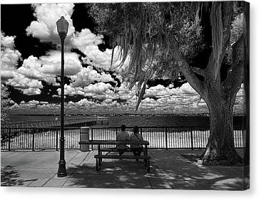 Canvas Print featuring the photograph Lake View by Lewis Mann
