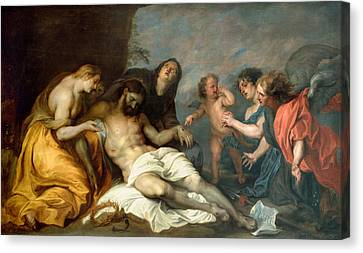 Lamentation Over The Dead Christ Canvas Print by Anthony van Dyck