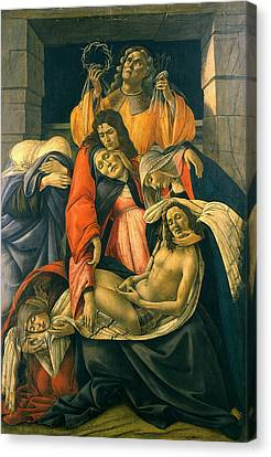 Lamentation Over The Dead Christ Canvas Print by Sandro Botticelli