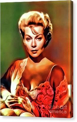 Lana Turner, Vintage Actress. Digital Art By Mb Canvas Print