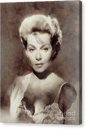 Lana Turner Vintage Hollywood Actress Canvas Print by John Springfield