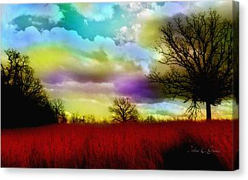Landscape In Red Canvas Print by Julie Grace
