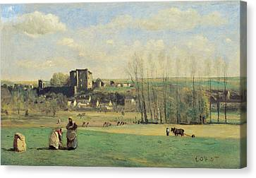Landscape Of La Ferte-milon Canvas Print by Jean-Baptiste-Camille Corot
