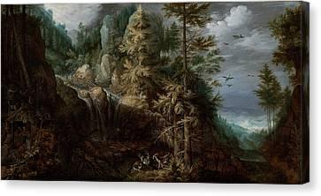 Landscape With The Temptation Of Saint Anthony Canvas Print
