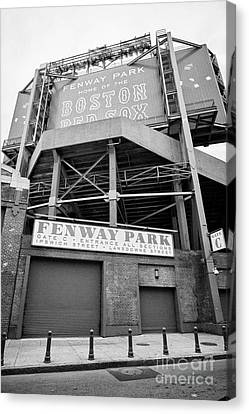 lansdowne street entrance to Fenway park baseball stadium Boston USA Canvas Print