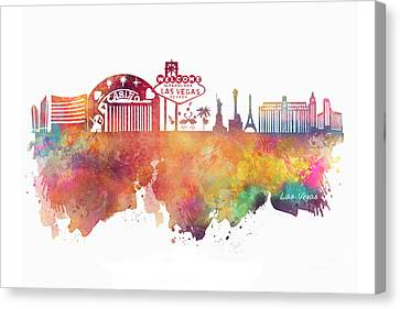 Las Vegas Skyline Canvas Print
