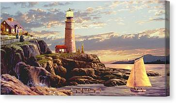 Last Light 2 Canvas Print by Ron Chambers