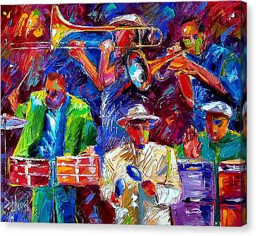 Latin Jazz Canvas Print by Debra Hurd