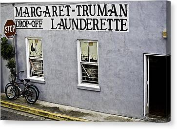 Stop Sign Canvas Print - Launderette by Sarita Rampersad