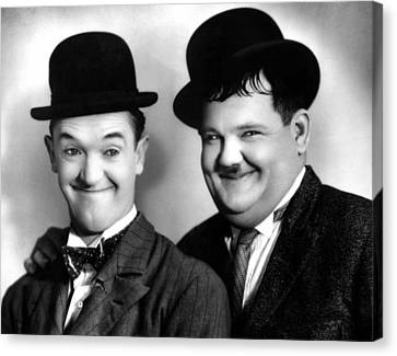 Laurel And Hardy Canvas Print by Everett