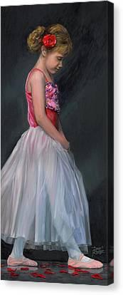 Canvas Print featuring the painting Lauren Grace by Doug Kreuger