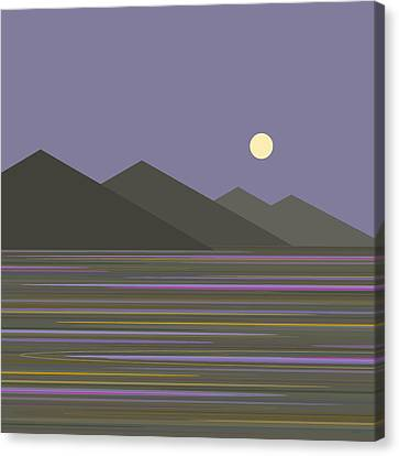 Canvas Print featuring the digital art Lavender Sky  Reflections by Val Arie