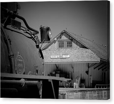 Laws Depot And Locomotive 9 Canvas Print by Troy Montemayor