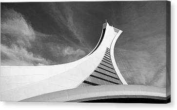 Canvas Print featuring the photograph Le Stade Olympique De Montreal by Juergen Weiss