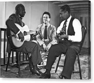 Leadbelly, Nicholas Ray, Josh White Canvas Print by Underwood Archives