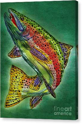 Leaping Trout Canvas Print