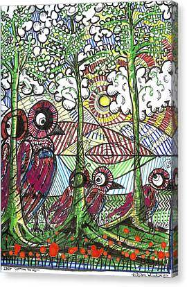 Leaving The Nest Canvas Print by Robert Wolverton Jr