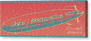 Led Zeppelin Canvas Print by RJ Aguilar