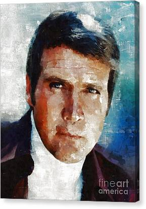 Lee Majors, Actor Canvas Print by Mary Bassett