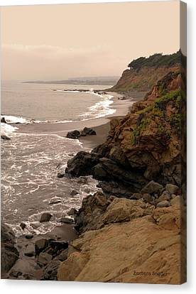 Leffingwell Landing Cambria Canvas Print by Barbara Snyder