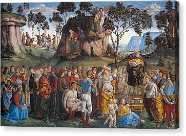 Legacy And Death Of Moses Canvas Print by Luca Signorelli