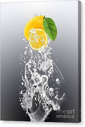 Lemon Splast Canvas Print by Marvin Blaine