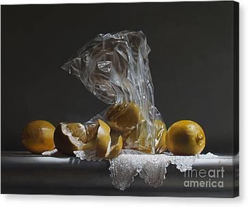 Lemons Canvas Print by Larry Preston