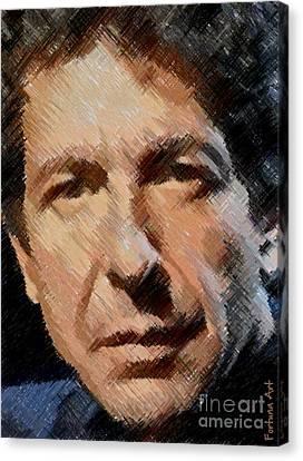 Leonard Cohen Canvas Print by Dragica Micki Fortuna