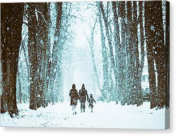 Let It Snow Canvas Print by Marji Lang