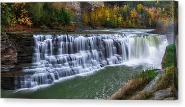Beauty Mark Canvas Print - Letchworth Lower Falls by Mark Papke
