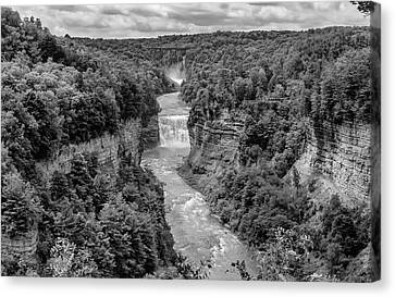 Letchworth State Park 6 Bw Canvas Print