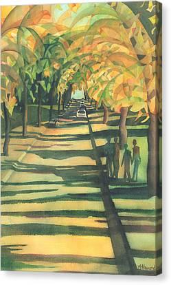 Lethbridge Gold Canvas Print by Anne Havard