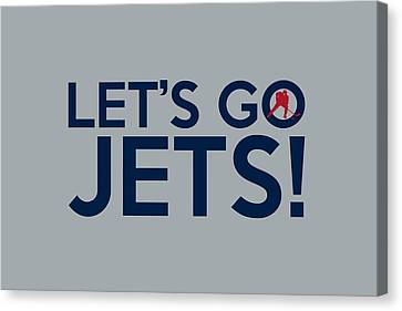 Let's Go Jets Canvas Print