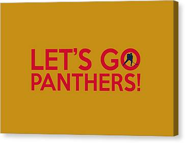Let's Go Panthers Canvas Print