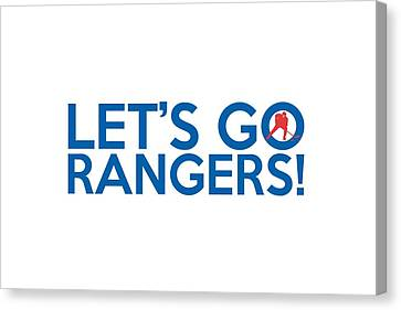 Let's Go Rangers Canvas Print