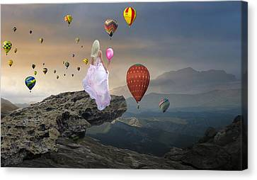 Canvas Print featuring the mixed media Letting Go by Marvin Blaine