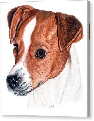 Prairie Dog Canvas Print - Lewie by Kristen Wesch
