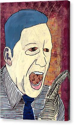 Mr. Basketball Canvas Print - Lib-583 by Mr Caution