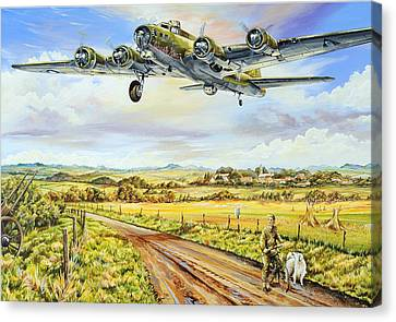 B17 Canvas Print - Liberty Run by Charles Taylor