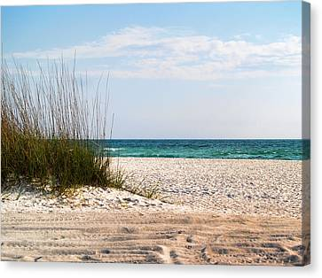 Canvas Print featuring the photograph Lido Beach by Athala Carole Bruckner