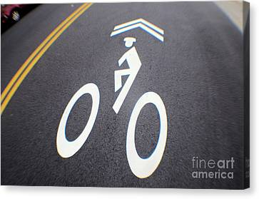 Life In The Bike Lane Canvas Print