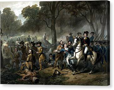 Life Of George Washington -- The Soldier Canvas Print by War Is Hell Store