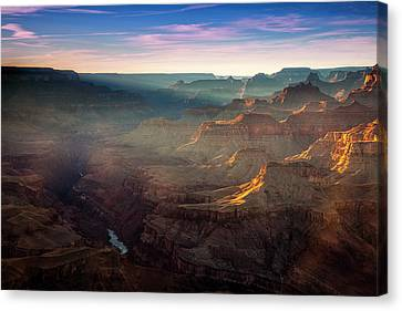 Light In The Canyon Canvas Print by Andrew Soundarajan