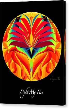 Survivor Art Canvas Print - Light My Fire by Angela Treat Lyon