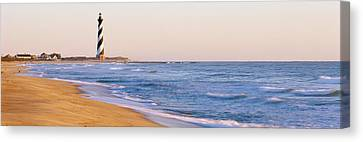 Lighthouse On The Beach, Cape Hatteras Canvas Print by Panoramic Images