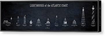 Lighthouses Of The Atlantic Coast Canvas Print by Daniel Hagerman