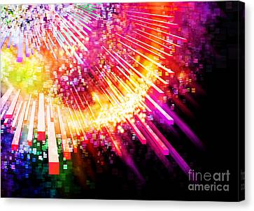 Lighting Explosion Canvas Print by Setsiri Silapasuwanchai